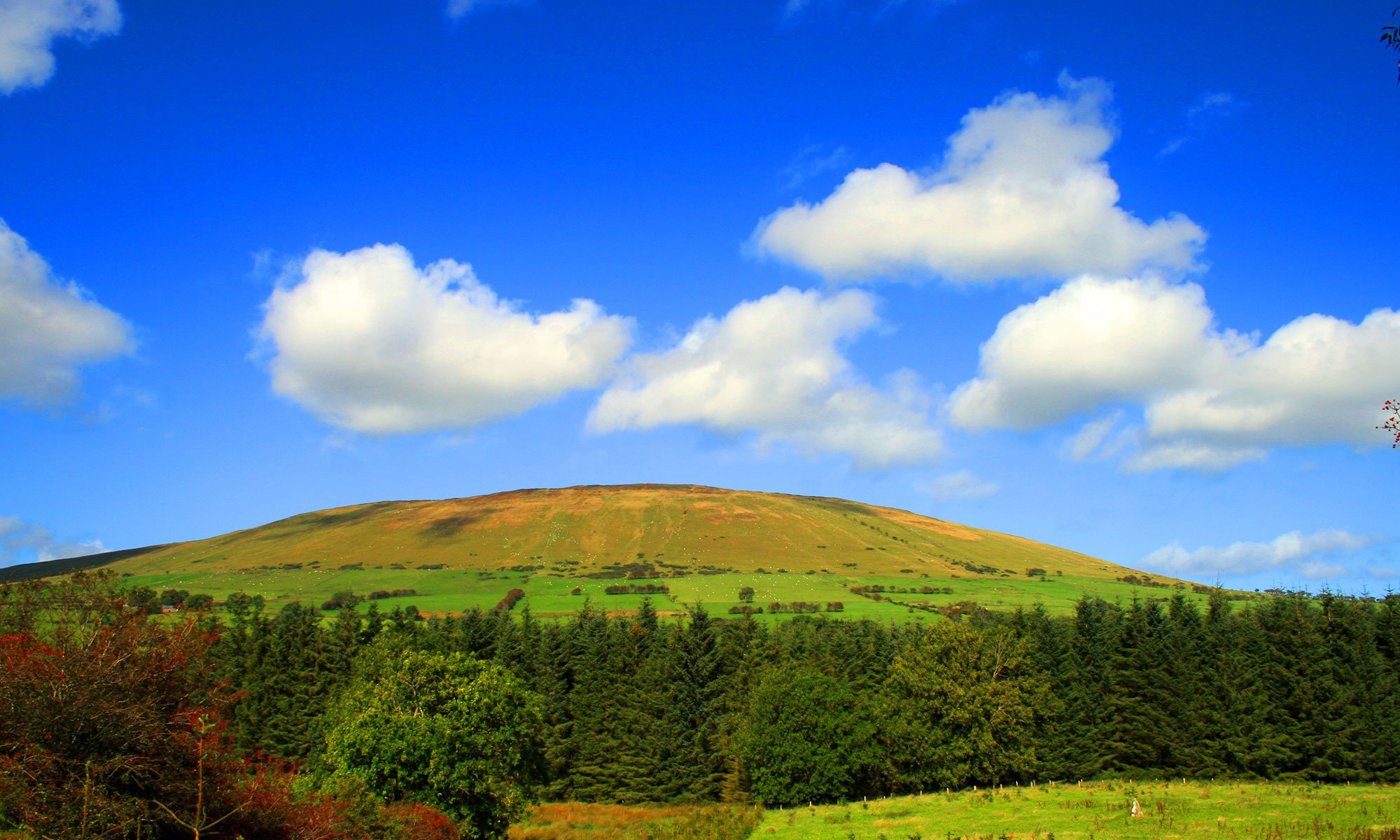 Landscape scale view of Knocklayd, in County Antrim