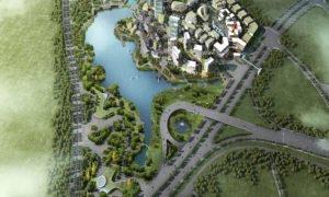 3D render of a large development