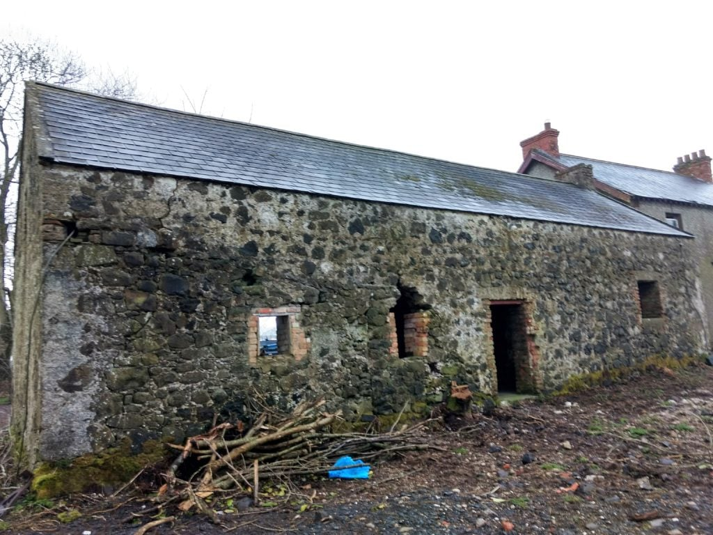 Building with bat roosting potential